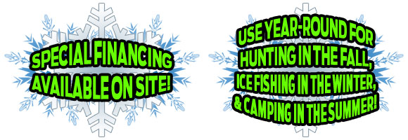 SPECIAL-FINANCING-AVAILABLE-ON-SITE! USE YEAR-ROUND FOR HUNTING IN THE FALL, ICE FISHING IN THE WINTER, & CAMPING IN THE SUMMER!